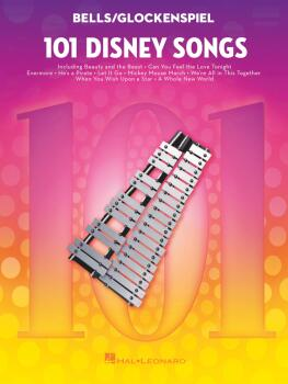 101 Disney Songs (for Bells/Glockenspiel) (HL-00366946)