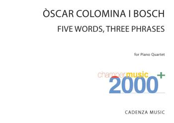 Five Words, Three Phrases (for Piano Quartet Score and Parts) (HL-50602252)