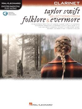 Taylor Swift - Selections from Folklore & Evermore: Clarinet Play-Alon (HL-00364061)