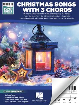 Christmas Songs with 3 Chords (Super Easy Songbook) (HL-00367423)