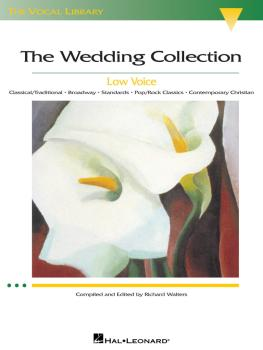 The Wedding Collection: The Vocal Library Low Voice (HL-00000444)
