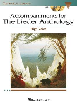 The Lieder Anthology - Accompaniment CDs: The Vocal Library High Voice (HL-00000455)