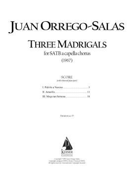 3 Madrigals, Op. 62 (HL-00041359)