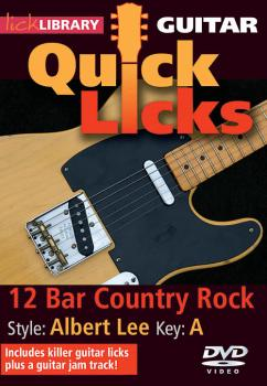 12-Bar Country Rock - Quick Licks: Style: Albert Lee; Key: A (HL-00393132)