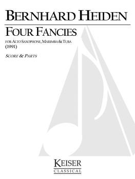 4 Fancies for Alto Sax, Marimba and Tuba (HL-00042057)