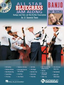 All Star Bluegrass Jam Along for Banjo: Backups, Lead Parts and Note-f (HL-00641944)