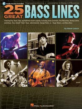 25 Great Bass Lines: Transcriptions · Lessons · Bios · Photos (HL-00700904)