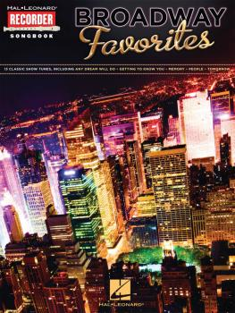 Broadway Favorites: Hal Leonard Recorder Songbook (HL-00710141)
