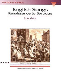 English Songs: Renaissance to Baroque: The Vocal Library Low Voice (HL-00740019)
