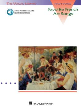 Favorite French Art Songs - Volume 1: The Vocal Library High Voice (HL-00740046)