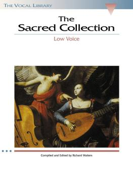 The Sacred Collection: The Vocal Library Low Voice (HL-00740156)