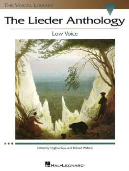 The Lieder Anthology: The Vocal Library Low Voice (HL-00740220)