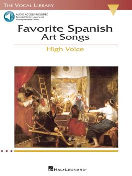 Favorite Spanish Art Songs: The Vocal Library High Voice (HL-00740221)
