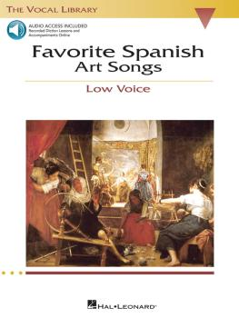 Favorite Spanish Art Songs: The Vocal Library Low Voice (HL-00740222)