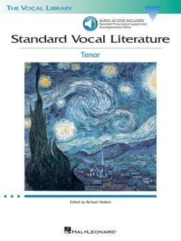Standard Vocal Literature - An Introduction to Repertoire (Tenor) (HL-00740274)
