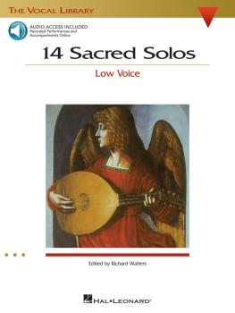 14 Sacred Solos: The Vocal Library Low Voice (HL-00740293)