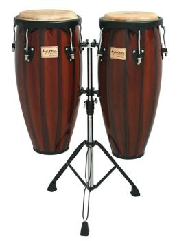 Artist Hand-Painted Series Brown Conga and Tumba: 11-3/4 inch. & 12-1/ (TY-00755098)