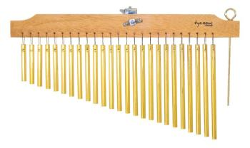 25 Gold Chimes with Natural Finish Wood Bar (TY-00755641)
