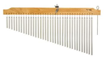 36 Chrome Chimes With Natural Finish Wood Bar (TY-00755643)