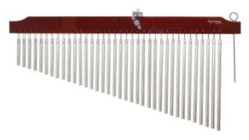 36 Chrome Chimes with Brown Finish Wood Bar (TY-00755644)