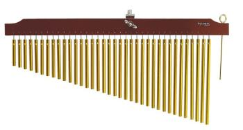 36 Gold Chimes with Brown Finish Wood Bar (TY-00755646)
