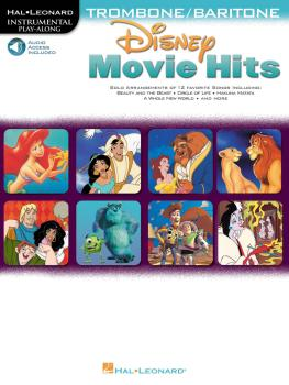 Disney Movie Hits for Trombone/Baritone B.C.: Play Along with a Full S (HL-00841425)