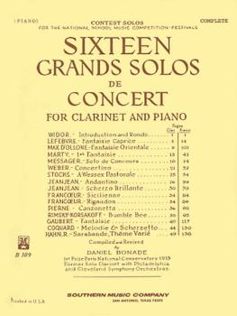 16 Grand Solos de Concert (Clarinet with Piano) (HL-03770185)