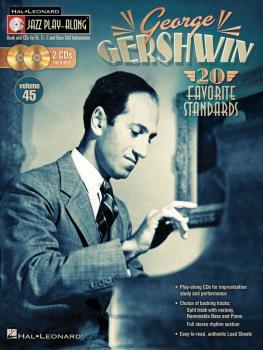 George Gershwin: Jazz Play-Along Volume 45 Book/2-CD Pack (HL-00103643)