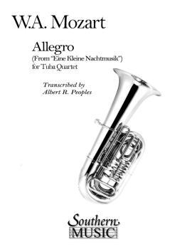 Allegro (from Eine Kleine Nachtmusik) (2 Euphoniums/2 Tubas) (HL-03775713)