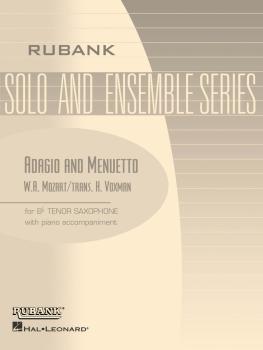 Adagio and Menuetto: Tenor Saxophone Solo with Piano - Grade 3.5 (HL-04477524)