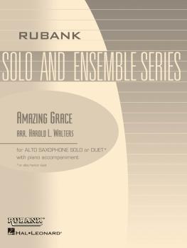 Amazing Grace: Alto Saxophone Solo with Piano - Grade 1 (HL-04479866)