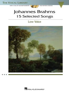 Johannes Brahms: 15 Selected Songs: The Vocal Library - Low Voice (HL-00001142)