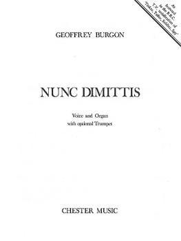 Geoffrey Burgon: Nunc Dimittis (Voice and Organ) (HL-14005422)