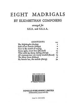 8 Madrigals by Elizabethan Composers (HL-14009956)