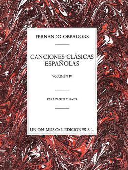 Canciones Clasicas Españolas - Volumen IV (Voice and Piano) (HL-14023899)