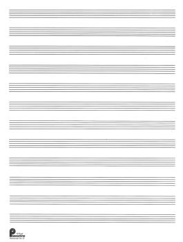 1. Manuscript Paper: 12-stave (formerly #51): Passantino Manuscript Pa (HL-14025109)