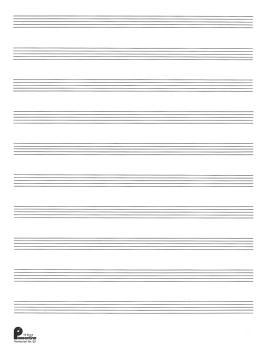 2. Manuscript Paper (formerly #52): 10-stave: Passantino Manuscript Pa (HL-14025110)