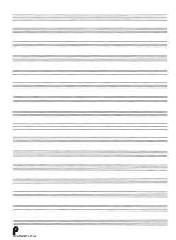 16. Manuscript Paper: 16-stave: Passantino Manuscript Paper (HL-14025111)
