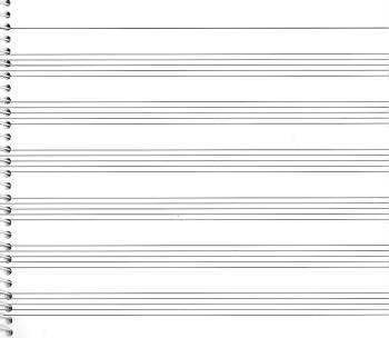 73. Spiral Book 6-stave: Passantino Manuscript Paper (HL-14025116)
