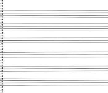76. Spiral Book 6-stave (Extra Wide): Passantino Manuscript Paper (HL-14025119)