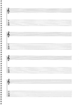 159. Spiral Book 4-Stave/16 Chord Boxes (Guitar): Passantino Manuscrip (HL-14025122)