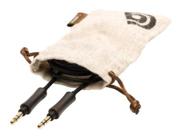 WoodTones Aux Cable: Stereo Audio Cable, Plugs Jacketed with Real Dark (GR-00123981)