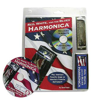 Red, White, and the Blues Harmonica: Book/CD/Harmonica Pack (HL-14027054)