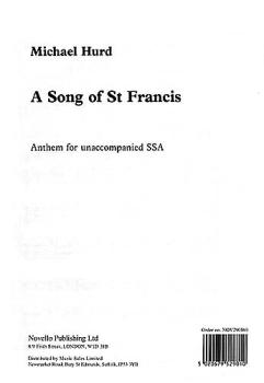 A Song of Saint Francis (HL-14030828)