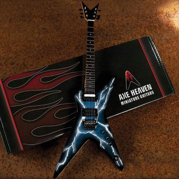Dimebag Darrell Lightning Bolt Signature Model: Miniature Guitar Repli (HL-00124296)