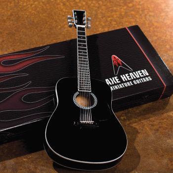 Acoustic Classic Black Finish Model: Miniature Guitar Replica Collecti (HL-00124392)