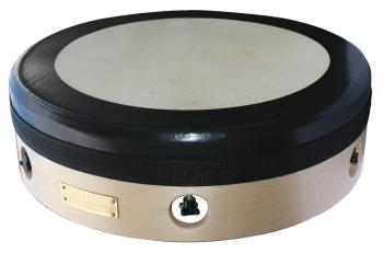 14 inch. Natural Tuneable Bodhran with Black Rim (Waltons model T200) (HL-00129090)