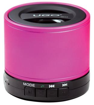 Bluetooth Wireless Mini Speaker: Pink Portable Speaker with SD Card Fo (UG-00129178)