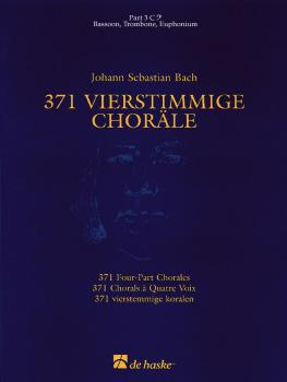 371 Vierstimmige Choräle (Four-Part Chorales): Part 3 in C - Bass Clef (HL-44003558)