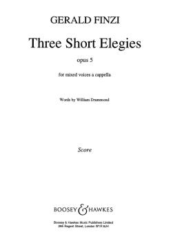 3 Short Elegies Op5 (HL-48009743)